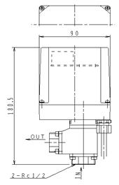 流量制御用モータバルブ